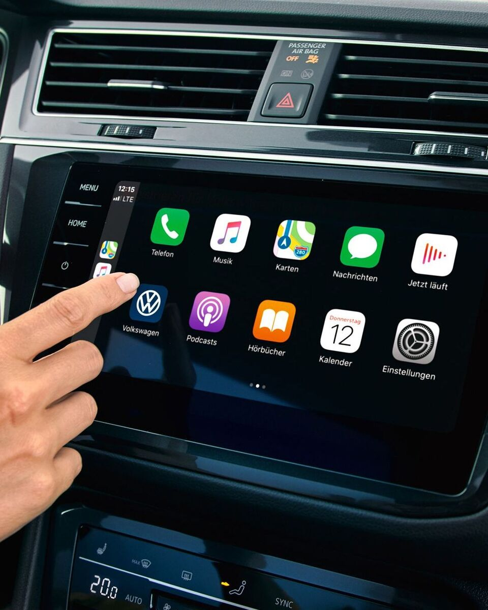 "Apple CarPlay mit dem Car-Net Navigationssystem ""Discover Pro""."